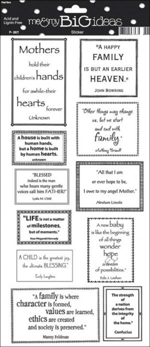 family scrapbook quotes srm preschool scrapbook stickers definition ...