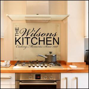 Personalised Kitchen ~ Wall sticker / decals