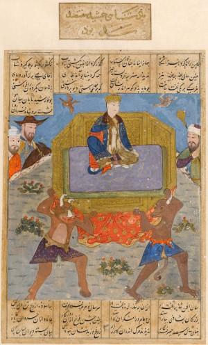 ... ferdowsi shahnameh c 1435 40 thrones 22 1948 iranian king div ferdowsi