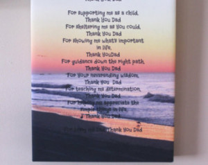 Poem on Canvas Quotes On Canvas P oem Prints Sentimental Gift