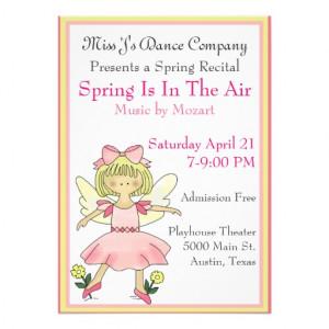 Sweet Girl's Dance Recital Invitation from Zazzle.com