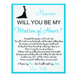 Will you be my Matron of Honor? Card 4.25