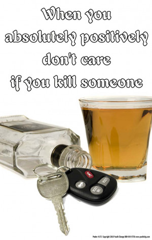 Drinking And Driving Posters