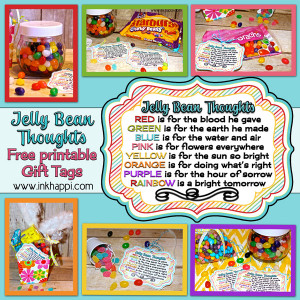 Jelly Bean Thoughts for Easter & Free Printable Gift Tags!