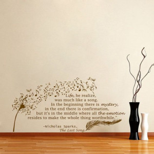 Housewares Wall Vinyl Decal Quote Nicholas Sparks by DecalHouse, $43 ...