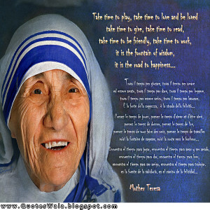 mother teresa quote / quotes
