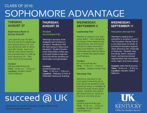 Download the Sophomore Advantage Poster below.