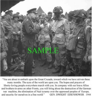 Details about GEN DWIGHT EISENHOWER LETTER TO TROOPS ON D-DAY PHOTO