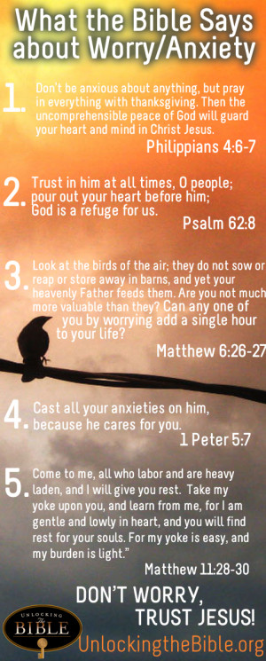 Bible Verses about Worry Overcoming Anxiety » Bible Verses about ...