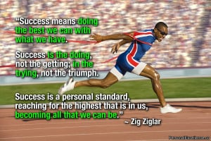 """Inspirational Quote: """"Success means doing the best we can with what ..."""