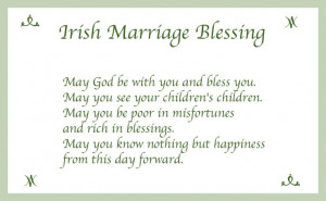 Irish marriage blessing