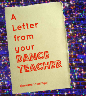 Letter from your Dance Teacher