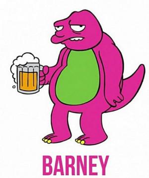 Funny Pictures Of Barney The Dinosaur Barney the drunken dinosaur
