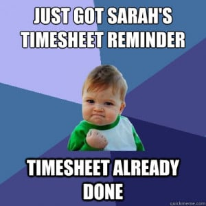Timesheet Reminder Funny