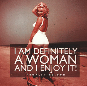 Marilyn Monroe Definitely A Woman Quote Picture