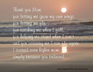 Nice} Thank You Mom Quotes From Daughter For Mother's Day 2015