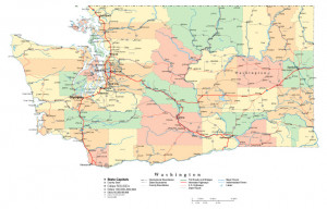 washington state county seats map