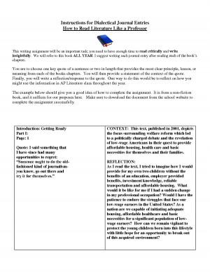 dialectic essays