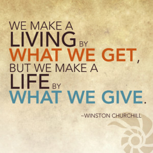 giving all you have out of guilt because of what you have been given ...