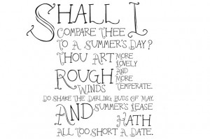 ... wish to compare his love to something as shortlived as a summer's day