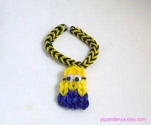 purple minion rainbow loom Popular items for minion party favors on ...