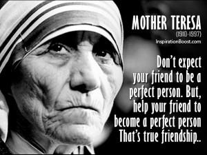 Mother Teresa on International Friendship Day