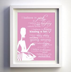 believe in pink - Audrey hepburn quote
