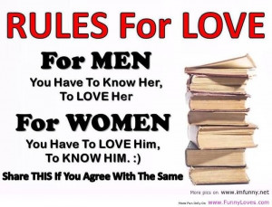 Rules Of Love For Men And Women.