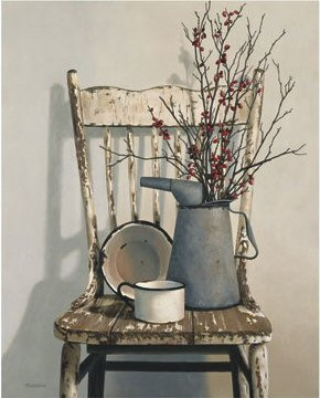 Berry Chair - Primitive Country Framed Wall Art, Signs & Sayings