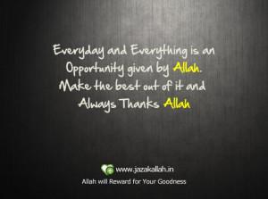 Islamic quote allah thanks