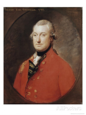 Charles Cornwallis Poster Thomas Gainsborough Barewalls