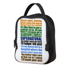 Supernatural Quotes Neoprene Lunch Bag for