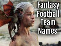 Game of Thrones: Fantasy Football Team Names