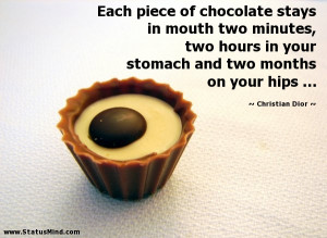 ... two months on your hips ... - Christian Dior Quotes - StatusMind.com
