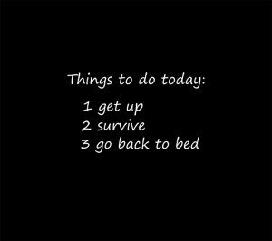 ... Todo Today Is Get Up Survive And Go Back To The Bed Very Funny Quote