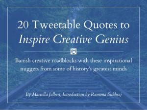 20 Tweetable Quotes to Inspire Marketing & Design Creative Genius