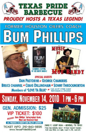 ... And… Quotes of the Day – Friday, October 19, 2012 – Bum Phillips