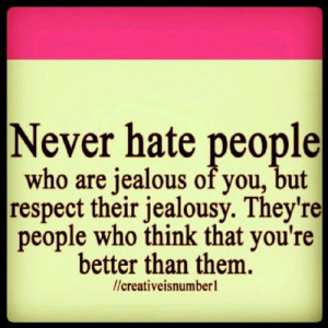 hate #envy #jealousy #love #pink #cute #quote