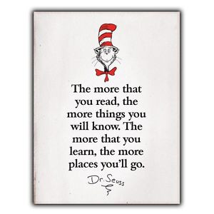 ... more-that-you-read-Dr-Seuss-Quote-METAL-SIGN-WALL-PLAQUE-print-poster