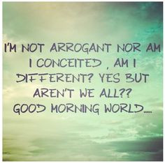 ... # conceited # different conceited difference arrogant conceited