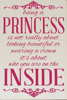 Quotes About Being A Princess 'being a princess' wall plaque. '