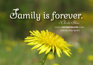 Inspirational Quotes About Family: Family is forever!