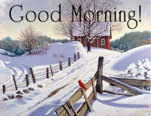 Snow Good Morning Quotes