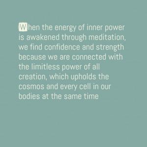 Finding Inner Strength Quotes When the energy of inner power