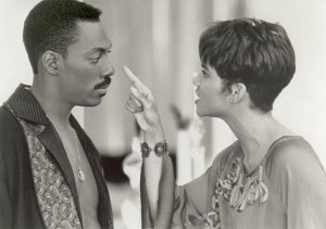 ... UP: Angela (Halle Berry) tells off Marcus (Eddie Murphy) in Boomerang