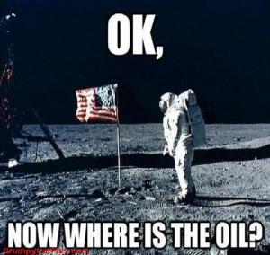 Moon Landing - Mars Landing ... Where Is The OIL?