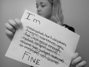 lost depressed sad weird hurt alone Personal broken fat ugly Awkward ...