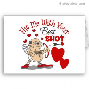 Funny oldman cupid valentines day card