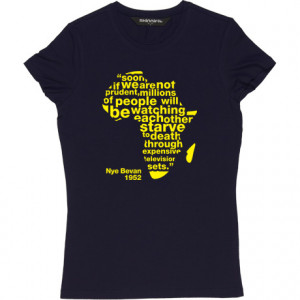 Nye Bevan Expensive Television Sets Quote Navy Blue Women's T-Shirt ...