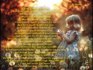 fathers day in heaven poems